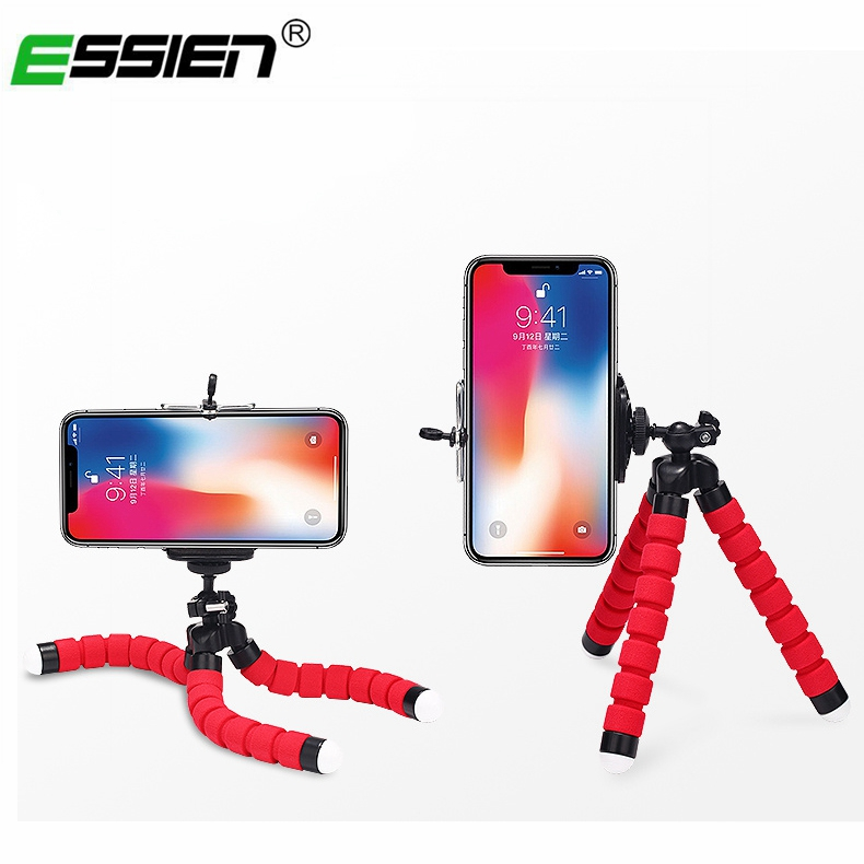 Essien Phone Holder Expanding Stand Flexible Octopus Bracket Tripod Selfie Mount Styling Accessories For Mobile Phone Camera