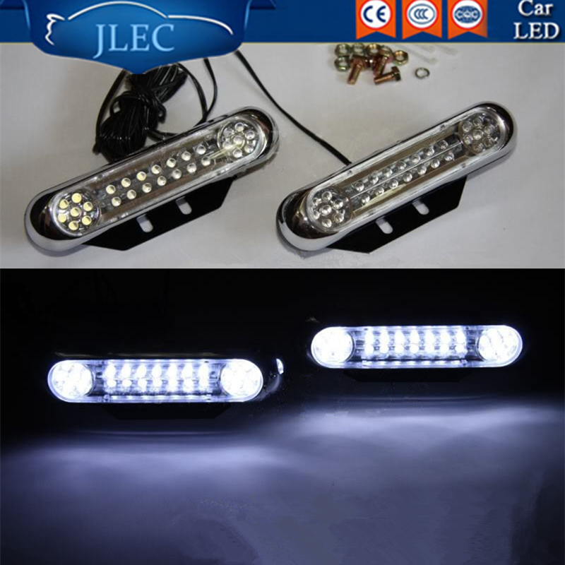 2017 Car-styling 2X28 LED Vehicle Auxiliary Lamp Car Daytime Running Lights Night Light Fog Lamp Automobile LED Decorative Light  10w led vehicle white light working auxiliary lamp black 9 30v