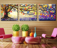 DIY Diamond Painting Cross Stitch Color Tree Triptych Home Decor 100 Square Drill Full Diamond Embroidery