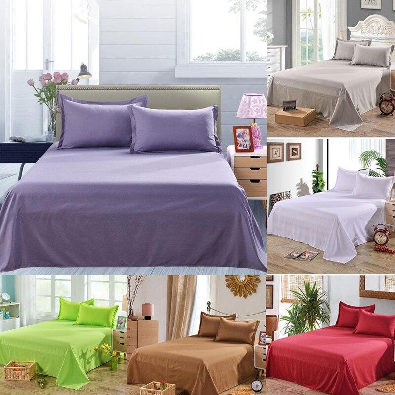 Простыня одноцветная плоская Простыня Постельное белье высокого качества постельное белье