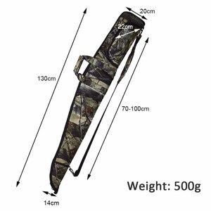 Image 4 - Sac à fusils tactique Oxford 600D, tissu Camo, étui pour pistolets de chasse de 130cm, bandoulière, Holster caché, pochette daccessoires