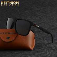 KEITHION Square Polarized Sunglasses Mens Fashion UV400 Mirrored Sun Glasses Vintage Driving Fishing Outdoor Eyewear