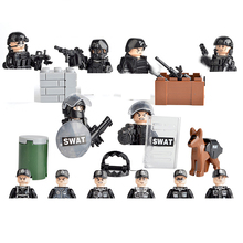 6 PZ hot SWAT city super police army Building Blocks mini military war figures model weapons guns bricks toys for children gift equipment storage rack lepin city lepin weapons swat police military mini figures model building kits bricks block original toy