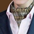 Hot Lunares Corbata Ascot Corbata Bufanda Hombres Auto Tie Wedding Corbata Jacquard Bufanda Bufanda