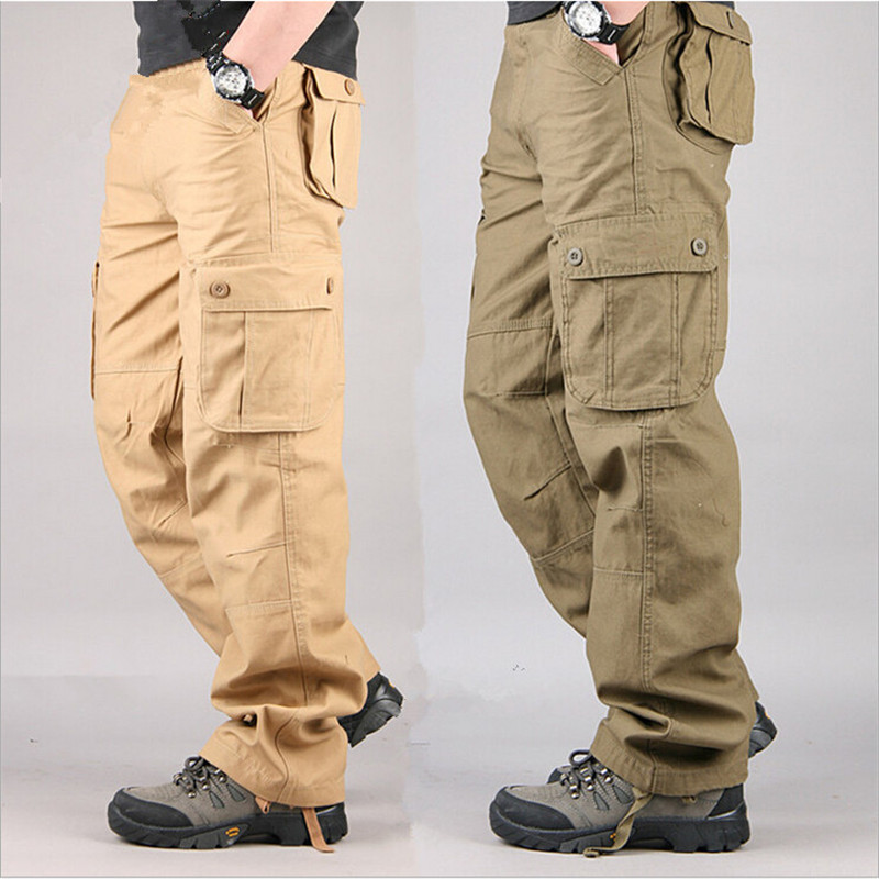 2016 Winter Airborne Jeans Casual overall  pants Cotton Breathable Multi Pocket Military Army Camouflage Cargo Pants For Men