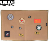 ROCO Morale Patch Display Frame Tactical Military Patch Holder Board Velcro Mat Patch Holder Board Patch