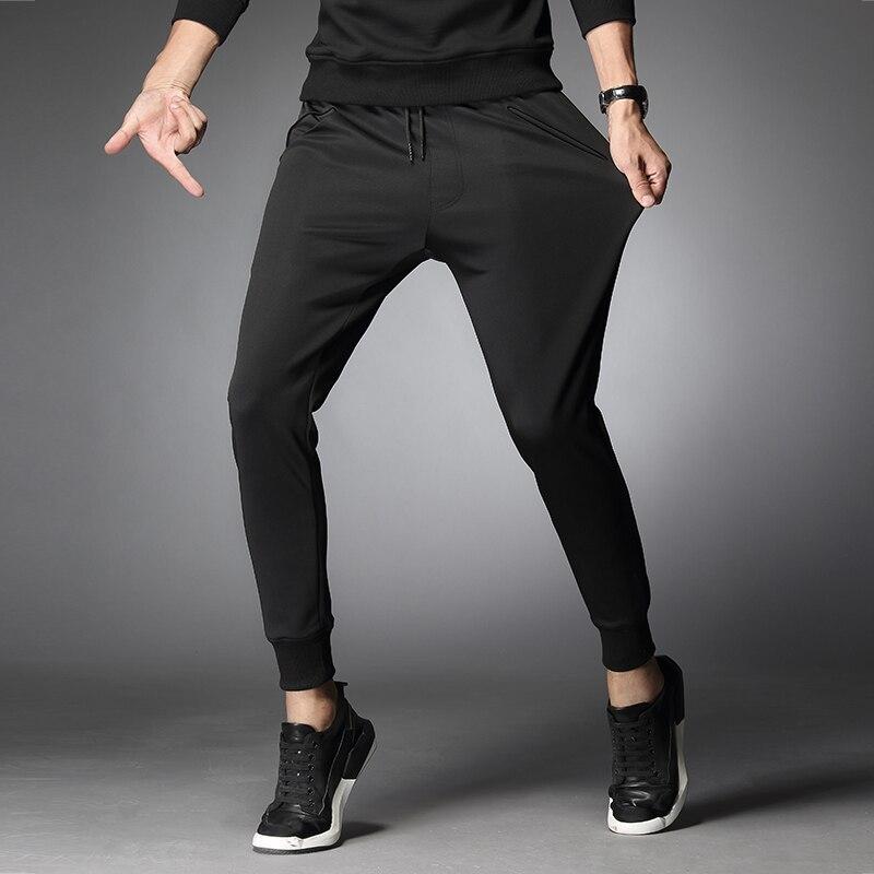 Printemps pantalons de course pour hommes Fitness Sports Gym élastique cordon pantalons de survêtement entraînement Jogging exercice Slim Fit pantalon 2018