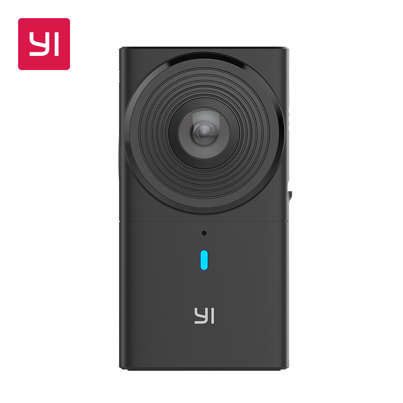 YI 360 VR Camera 220 degree Dual Lens 5.7K/30fps Immersive Live stream Effortless Panoramic Camera Digital camera vr hd dual lens vr camera connected android mobile phone record 3d video vr get immersive experience