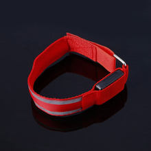 Arm Warmer Belt Bike LED Luminous Armband LED Safety Sports Reflective Belt Strap Snap Wrap Light up Arm Band Armband(China)