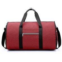 Женская дорожная сумка на плечо красная водонепроницаемая дорожная сумка мужская одежда сумки 2 в 1 большая поклажа сумка для вещей, сумка прямоугольной формы носить на выходных сумка
