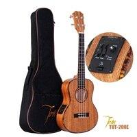 TOM da guitarra ukulele TUT-200E manufactory importação de instrumentos musicais com EQ Ukulele Com Aquila Cordas 26
