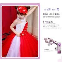 Shinning Rhinestone Flowers Children Girl Tutu Dress Floral Baby Girl Dresses Kids Clothing For Girls Wedding