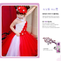 Shinning Rhinestone Flowers Children Girl Tutu Dress Floral Baby Girl Dresses Kids Clothing For Girls Wedding