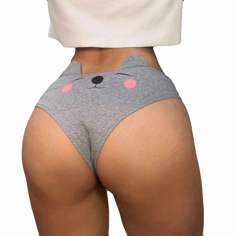 Quần lót Nữ Ngộ Nghĩnh Gợi Cảm Nữ Dây Resin Quần Đùi Quần Lót Quần Lót T dây Quần Đùi hình Ngón ropa nội thất femenina # QQj