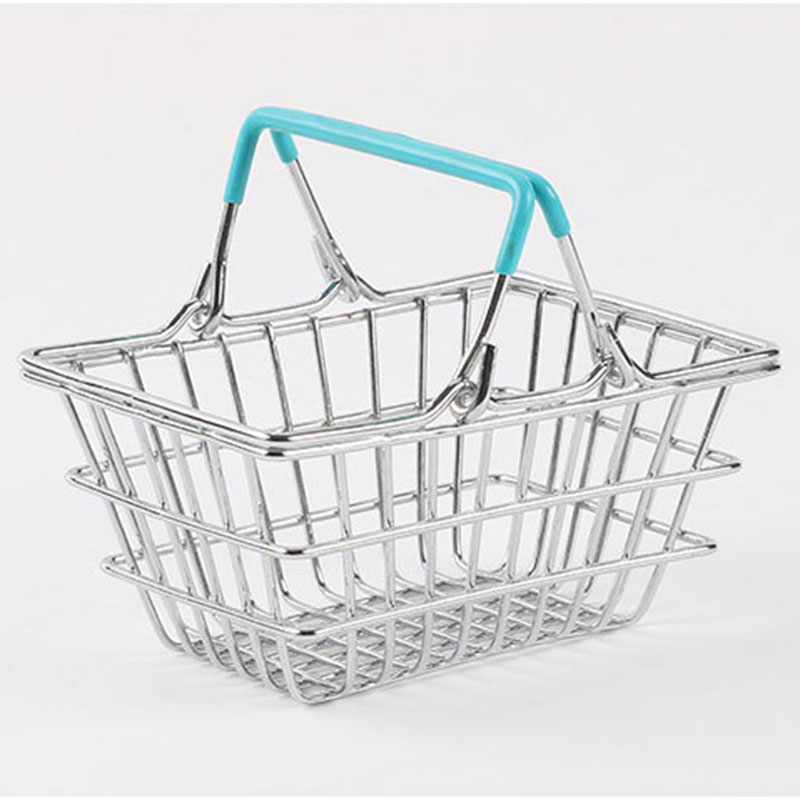 Image 3 - Portable Mini Supermarket Shopping  Basket organizer Shopping Basket Home Debris storage box makeup organizer kids toys-in Storage Baskets from Home & Garden