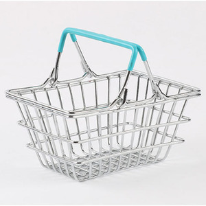 Image 3 - Portable Mini Supermarket Shopping  Basket organizer Shopping Basket Home Debris storage box makeup organizer kids toys