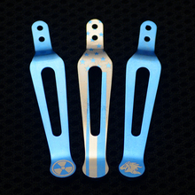 XM-18 Design TC4 Titanium Pocket Knife Clip Belt Flashlight K Sheath Multi Tools  Button For