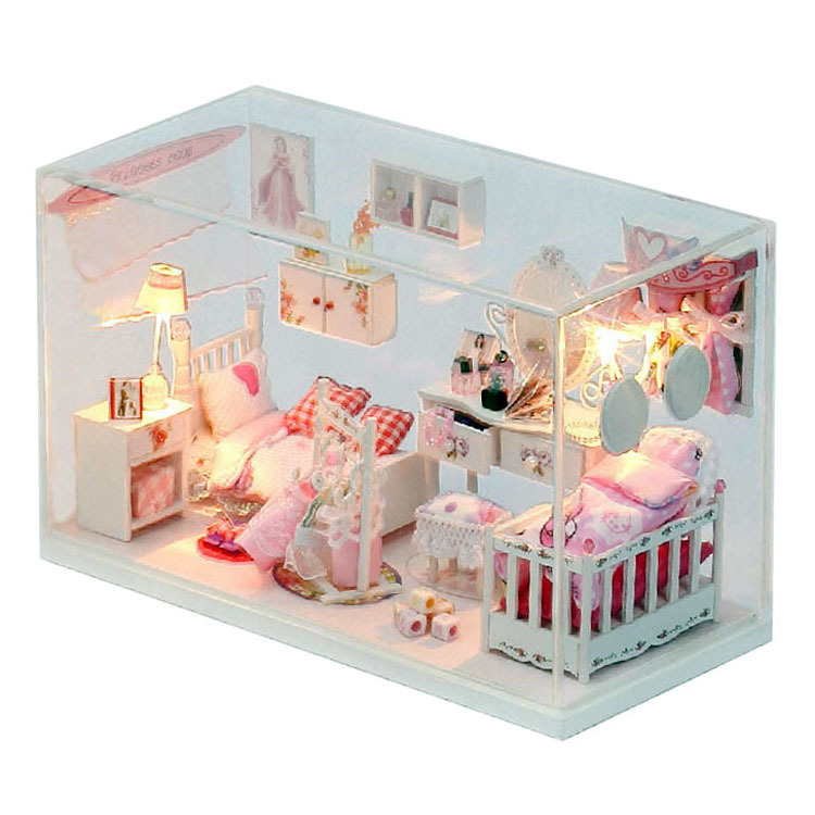DIY Pretty Princess Room Wooden Handmade Craft Assembling ...