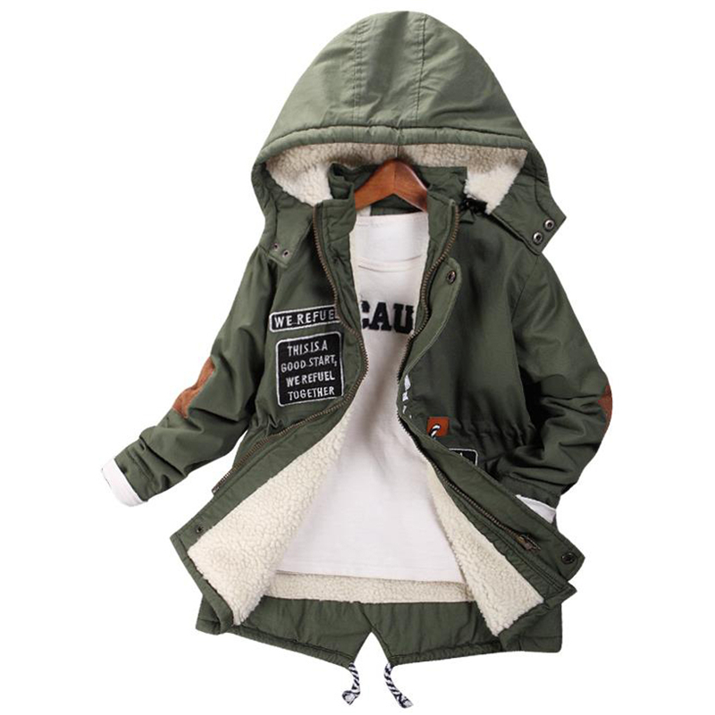 2017 new children's clothing boy jacket autumn and winter children in the long paragraph plus thick plus cashmere coat