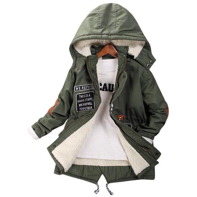 Новинка 2017 года, детская одежда, куртка для мальчиков, осенне-зимнее детское длинное толстое кашемировое пальто