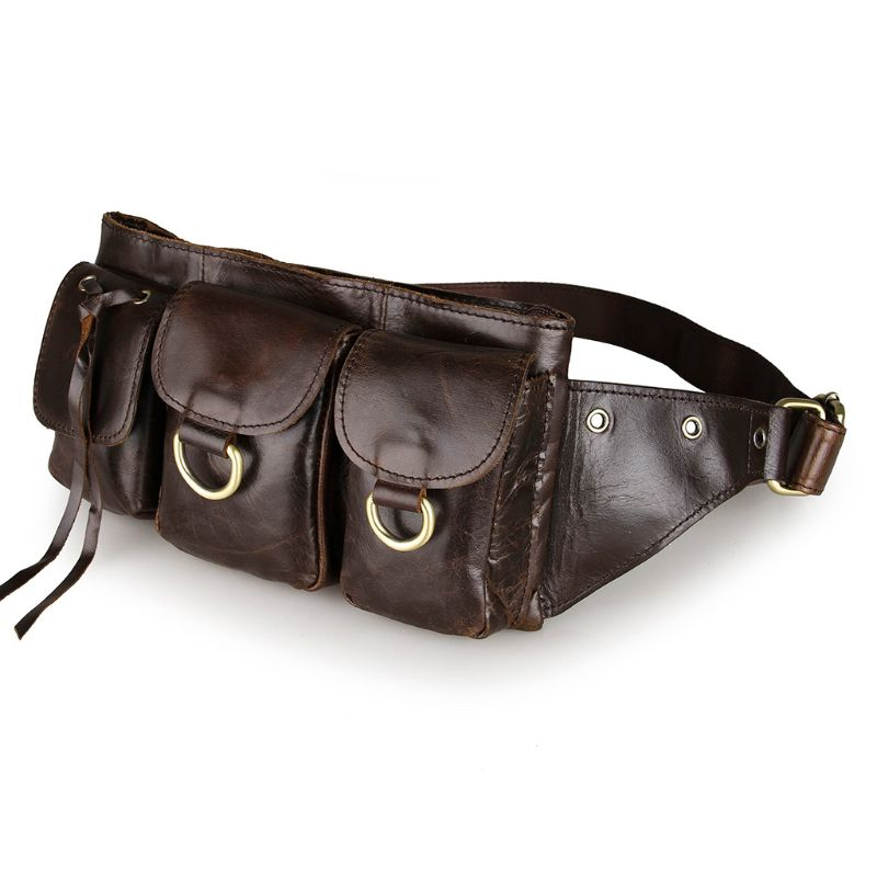 thinkthendo-genuine-leather-mens-money-belt-sport-bum-waist-bag-phone-pouch-wallet-pack-camping-travel-waist-pack