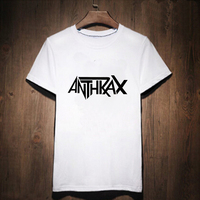 Anthrax Heavy METAL Print T Shirt Male Tshirt Men Tee Shirts Anime Punk Rock Music Hip