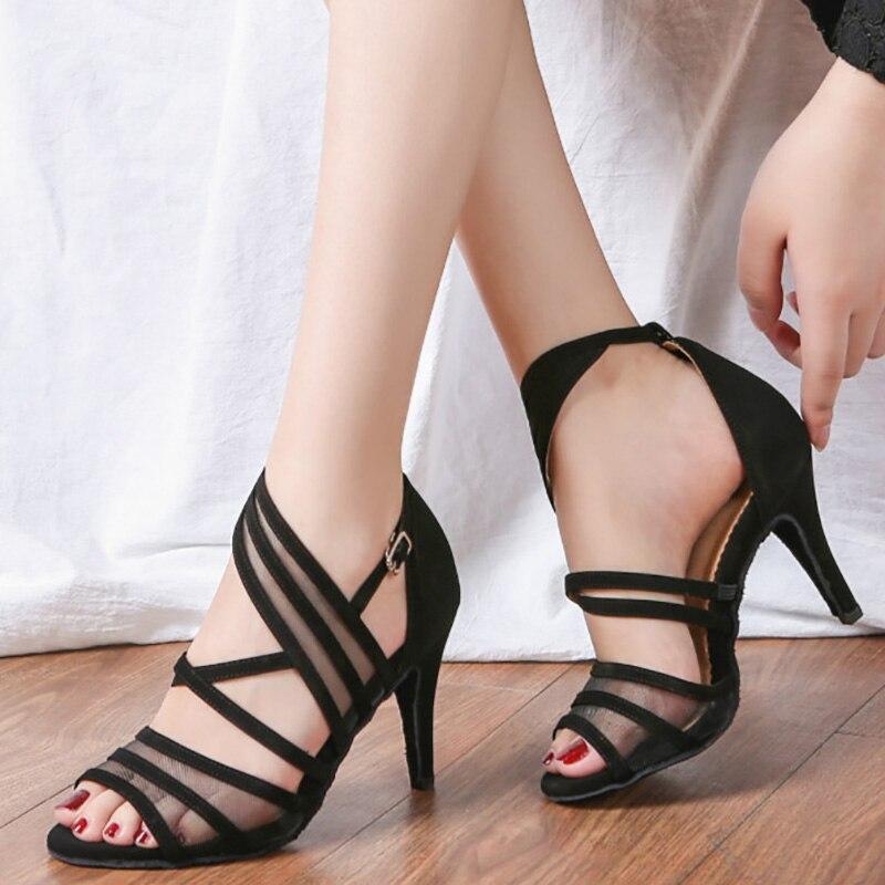 USHINE YC07 Salle De Bal Latine chaussures de danse Noir chaussures de salsa talons hauts 6/7. 5/8. 5 cm Rouge Samba Tango Kizomba Latine chaussures de danse Femme
