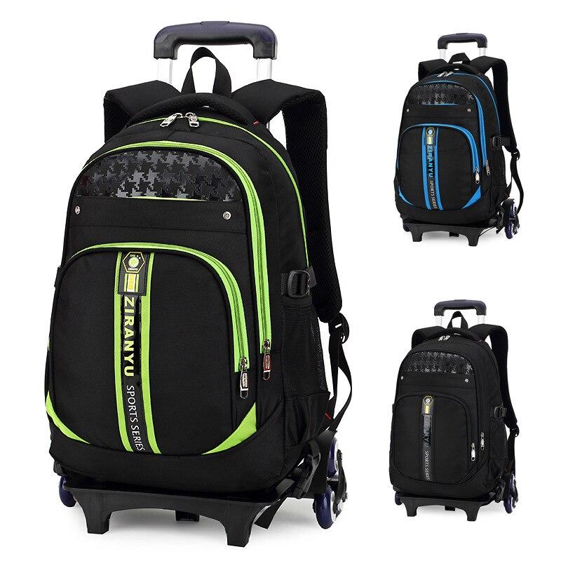 Bambini borse da scuola capretti delle ragazze dei ragazzi trolley zainetto trolley borse libro wheeled backpack-in Borse da viaggio da Valigie e borse su  Gruppo 1