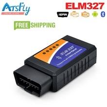 ELM327 Bluetooth ELM 327 V2.1 Интерфейс OBD2/OBD II Авто диагностический сканер автомобиля код ошибки чтения сканер ELM 32