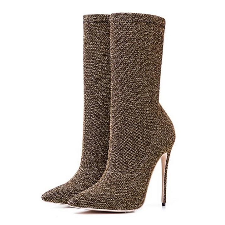 Tacones Señoras Zapatos Mujeres Dedo Piel Elástico Mujer As Picture IgmYbyvf76