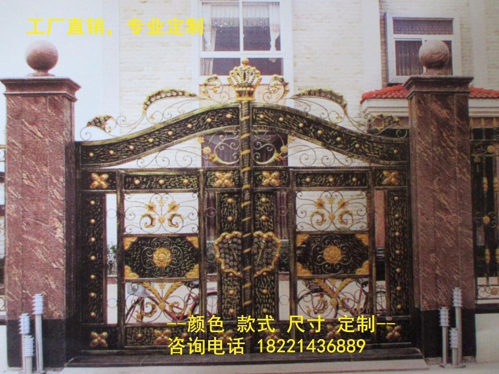 Custom Made Wrought Iron Gates Designs Whole Sale Wrought Iron Gates Metal Gates Steel Gates Hc-g65
