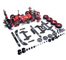 Conjunto de peças de reposição fma chassi, conjunto de peças de reposição para iniciante/kit primário/avançado para tamiya mini 4wd car modelo