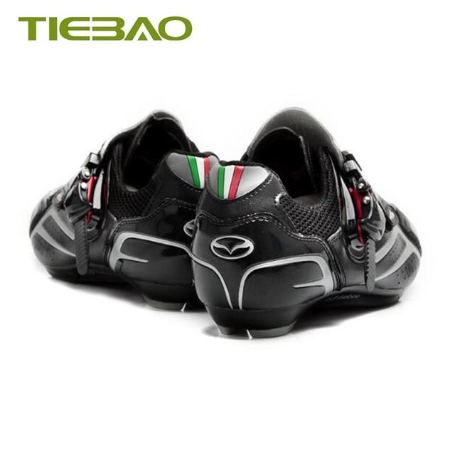 Tiebao ciclismo de estrada sapatos sapilha ciclismo 2019 homens mulher bicicleta pedais de estrada auto-travamento respirável bicicleta tênis 4
