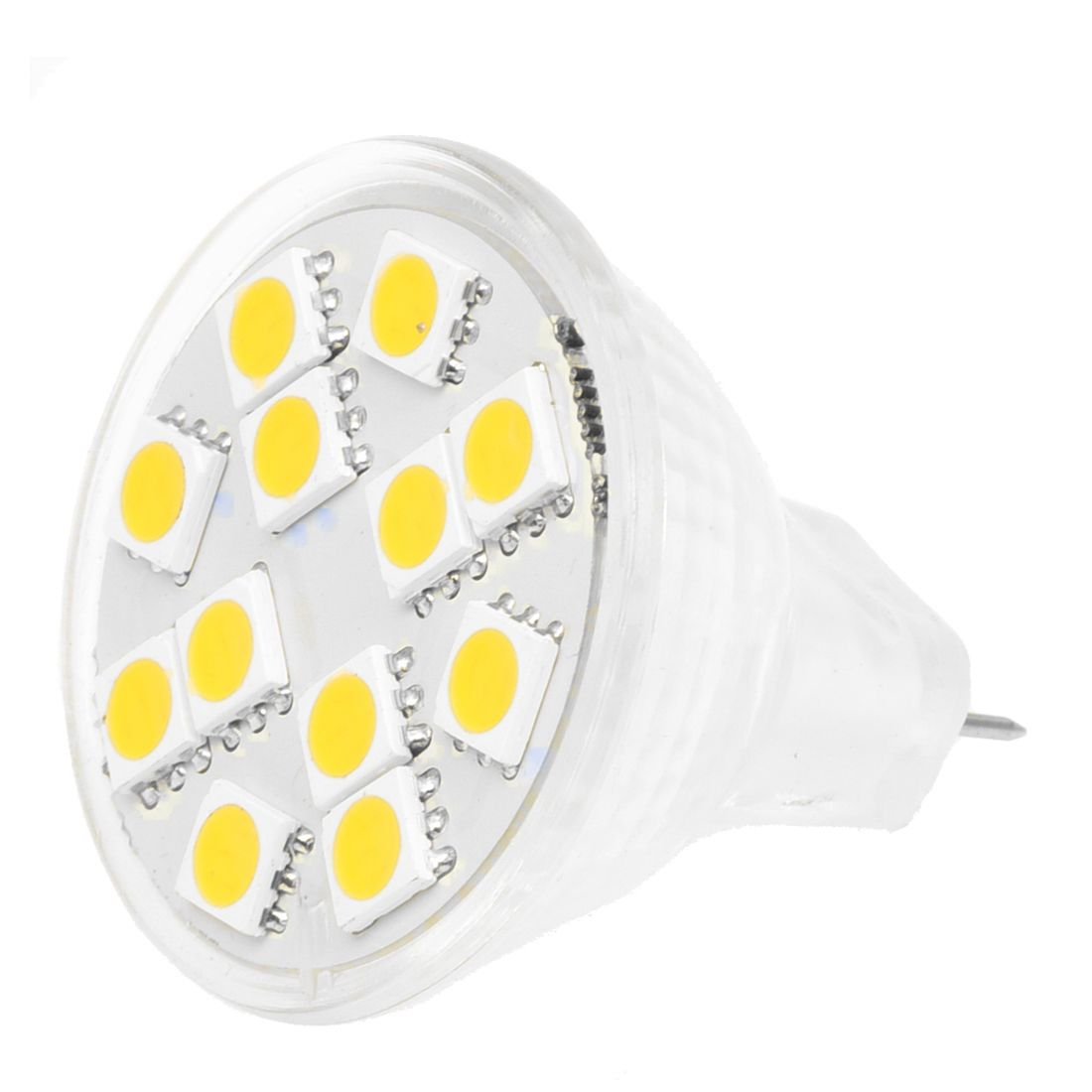 2W MR11 GU4 120-144LM LED Bulb 12 5050 SMD Warm White Lamp
