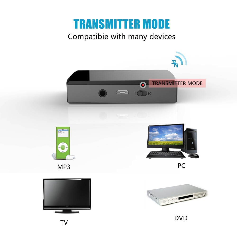 USB 3.5mm Bluetooth Wireless Stereo Audio Music Speaker Transmitter Adapter Hot Convenience 17Aug29 hh33