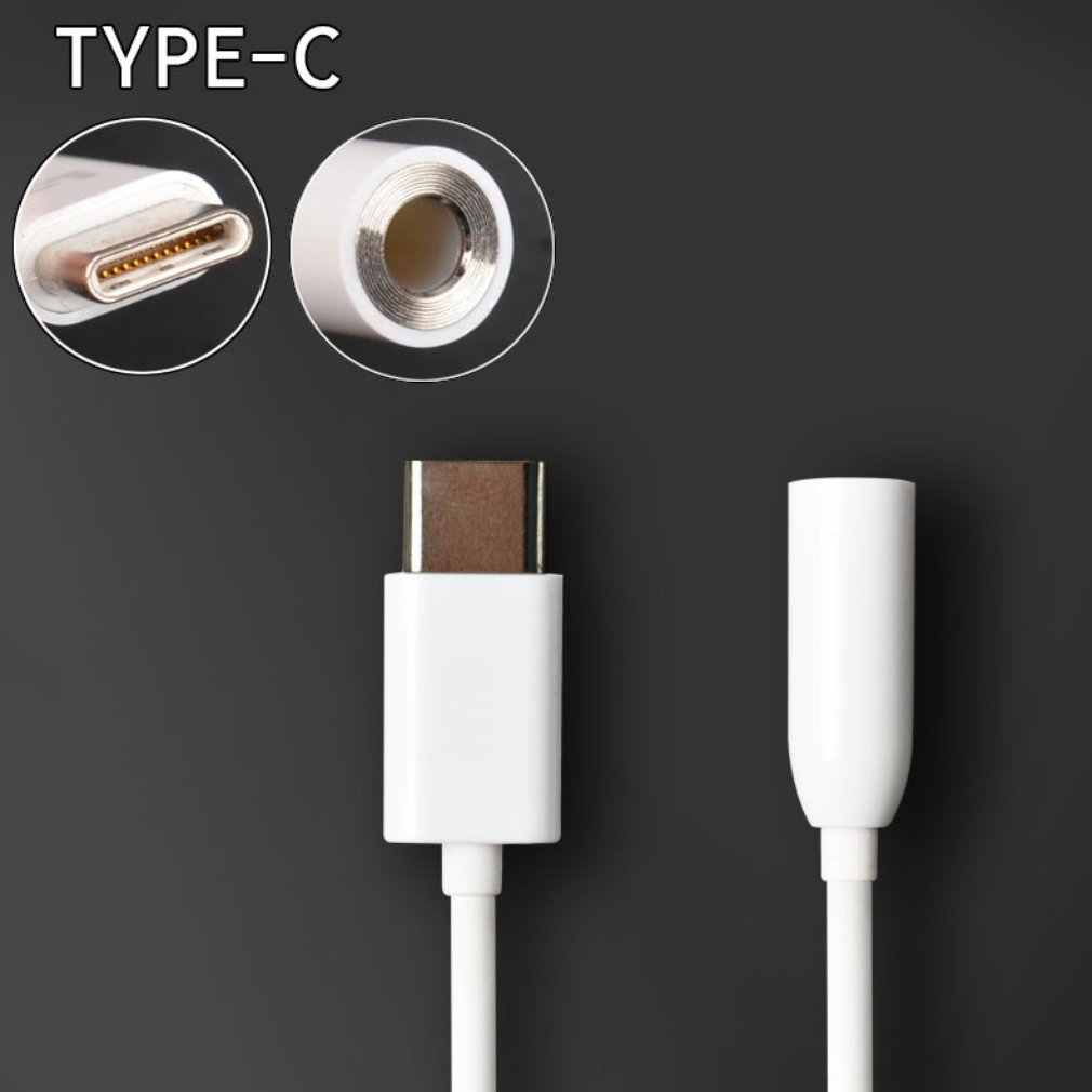 4 kolory typu C do 3.5 słuchawki Adapter USB 3.1 typu C USB-C mężczyzna 3.5mm AUX Audio Jack kabel konwertera słuchawki zestaw słuchawkowy Adapter