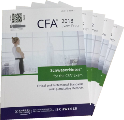 2018 CFA1 Level 1 Schweser Study Notes + 2017 CFA Practice Exams V1/ V2 + Formula List