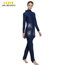 Print Islamic Swimwear Women Girls Muslim Swimwear Full Cover Modest Islamic Swimming Suits Plus Size Burkinis
