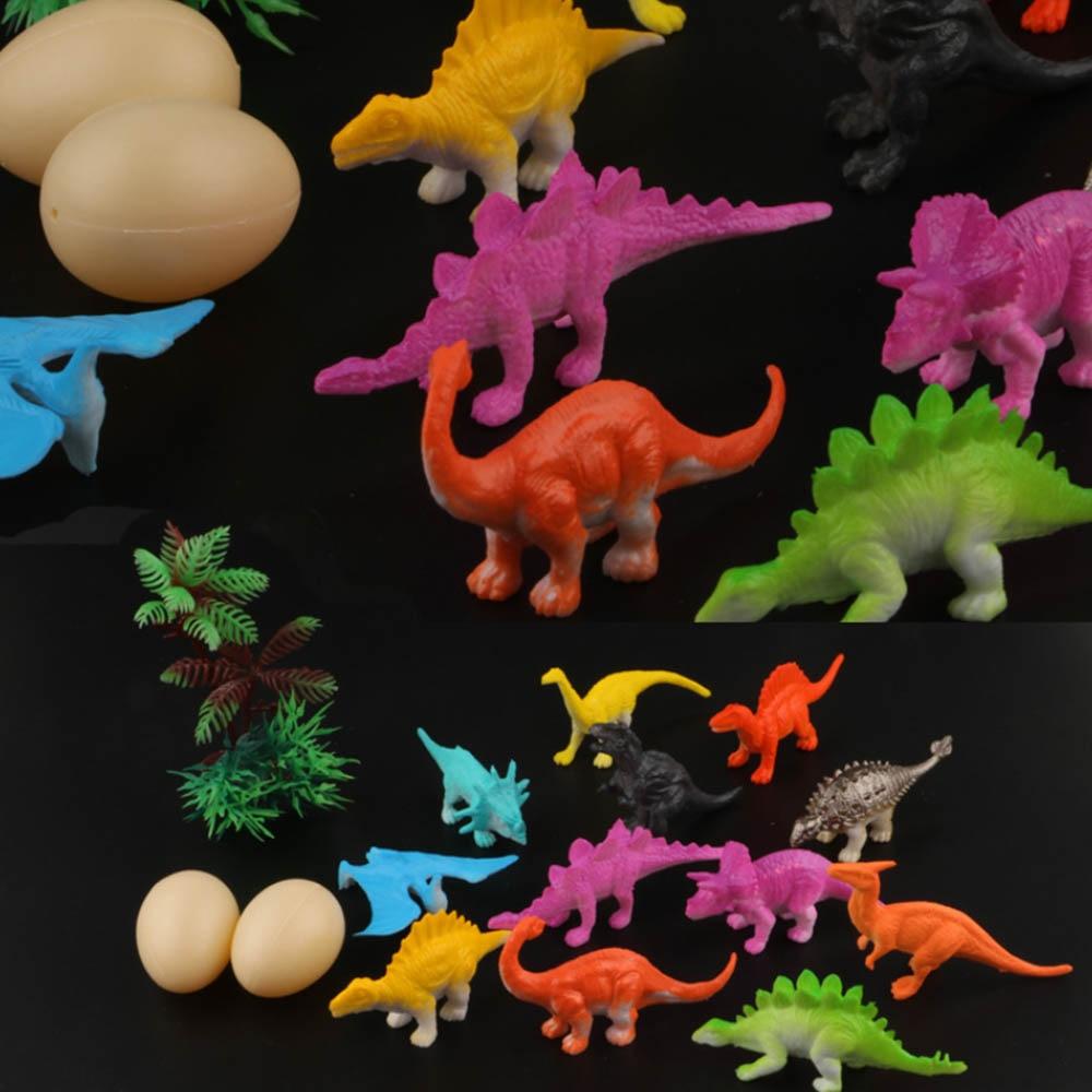 16pcs/Lot  Mini Simulation Dinosaur Animal Model Figures Home Decor Accessories Figurine Kids Gift Toys