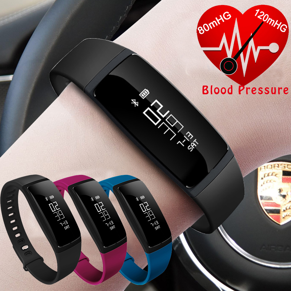 Blood Pressure Watch Heart Rate Monitor Smart Band Activity Fitness Tracker Wristband Pulsometer Bracelet For Android IOS Phone heart rate blood pressure monitor smart watch sport anti lost smartwatch call reminder a09 smart bracelet for ios android phone