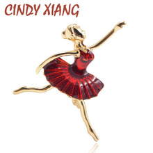 CINDY XIANG Enamel Ballet Girl Brooches For Women Small Tiny Kids Badges Bijouterie Broches New Design Exquisite Dress Corsage