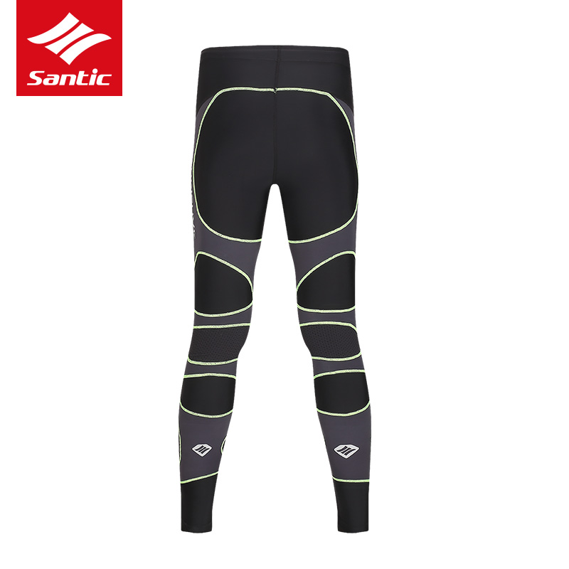 ФОТО SANTIC Men Cycling Pants Soft Quick Dry Sports Running Bicycle Bike Sportswear Fitness Compression Long Pant Ciclismo Cyclisme