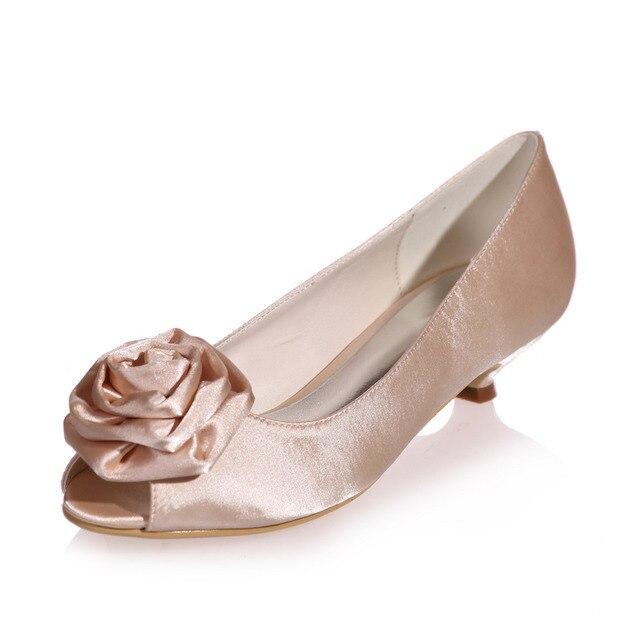 L TC Chaussures Pour Femmes Soie Talon Plat Bout Rond Chaussures Plates Mariagechampagne / argent / Mauve / Bleu / Rouge / Rose / Blanc , champagne , 41