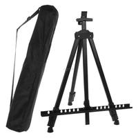 Tall Display Telescopic Studio Painting Metal Tripod Art Easel Tripod Display Stand Drawing black