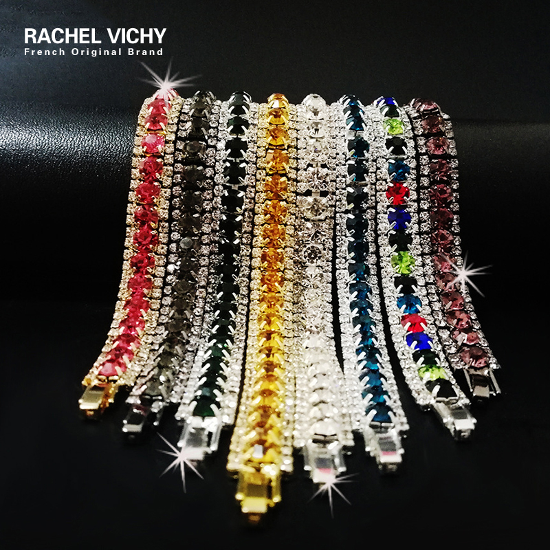 ded2c69dcc2cb RACHEL VICHY Crystal Girl Rings New 2018 Color Zircon Stones Ring ...