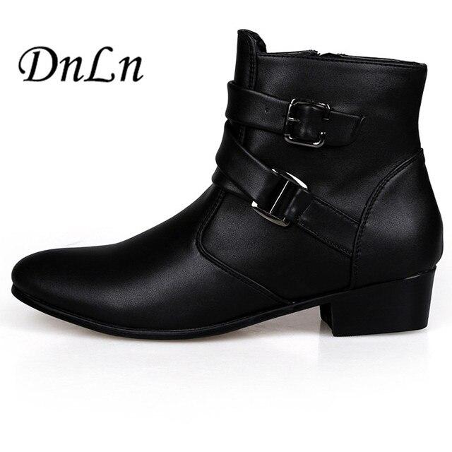 Aliexpress.com : Buy Autumn Winter 2015 Men Boots Black White ...