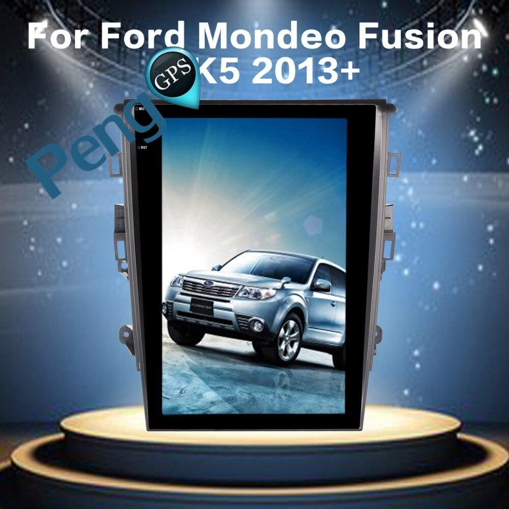 2 Din autoradio Tesla Style 12.1 Pouces Android 6.0 Voiture navigation gps lecteur dvd pour Ford Mondeo pour Fusion MK5 2013- 2017 FM Unité