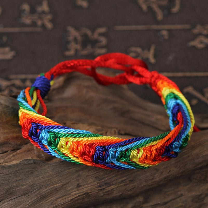 Multicoloured Vòng Tay Dây Thừng Tròn 18.4cm Charm cho Vòng Tay & Lắc Tay Nữ DỰ TIỆC CƯỚI Món Quà Trang Sức