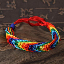 multicoloured Rope Bracelet Round 18.4cm Charm Friendship Bracelets & Bangles for Women Wedding Party Jewelry Gift(China)