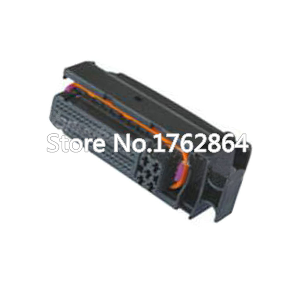 81 pin black sheathed waterproof connector with terminal DJ7811-1-21 81P connector maitech 2 copper core waterproof connector terminal head black